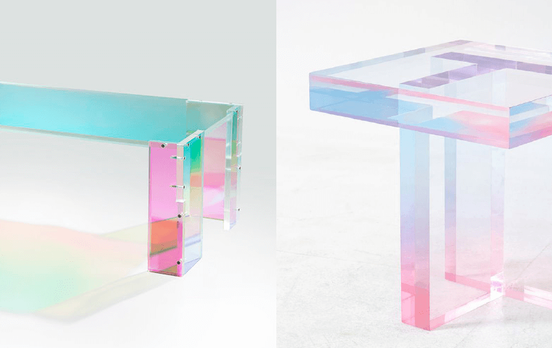 joogii daft punk table and saerom youn crystal table