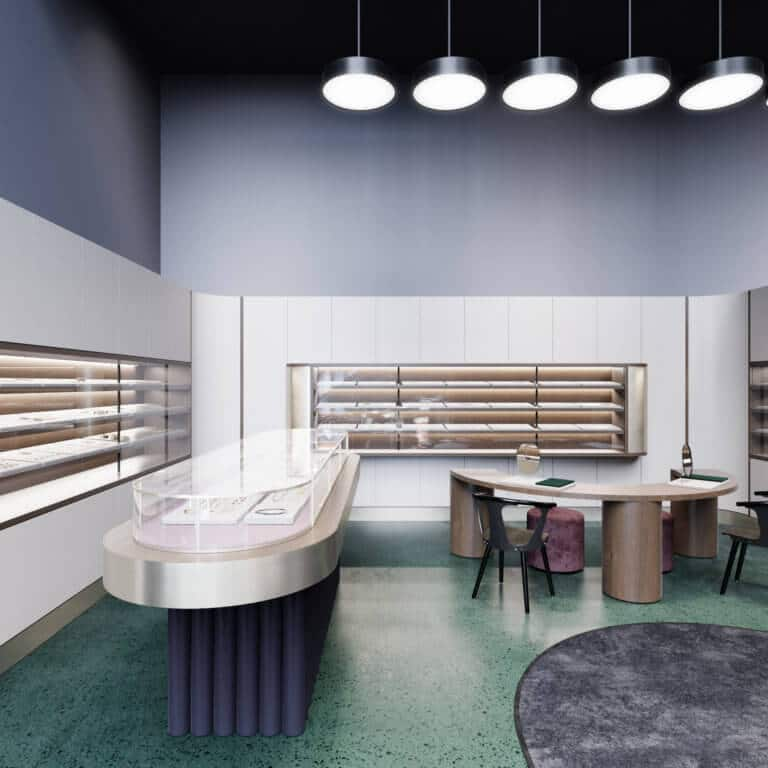 S&T architects, jewelry store in Astana, curated by huskdesignblog.com