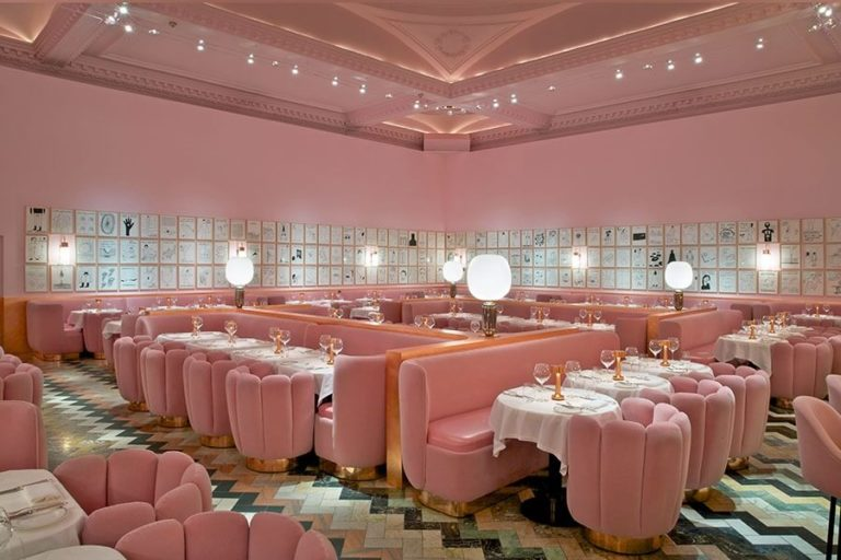 Le rose en retail - India Mahdavi, The Gallery at Sketch restaurant, London