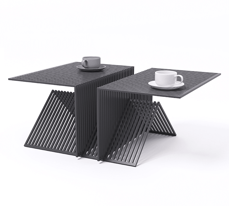Grate modules and table by Vasyl Maletych