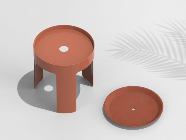 Terra Cotta Tables by Justine Lotigie