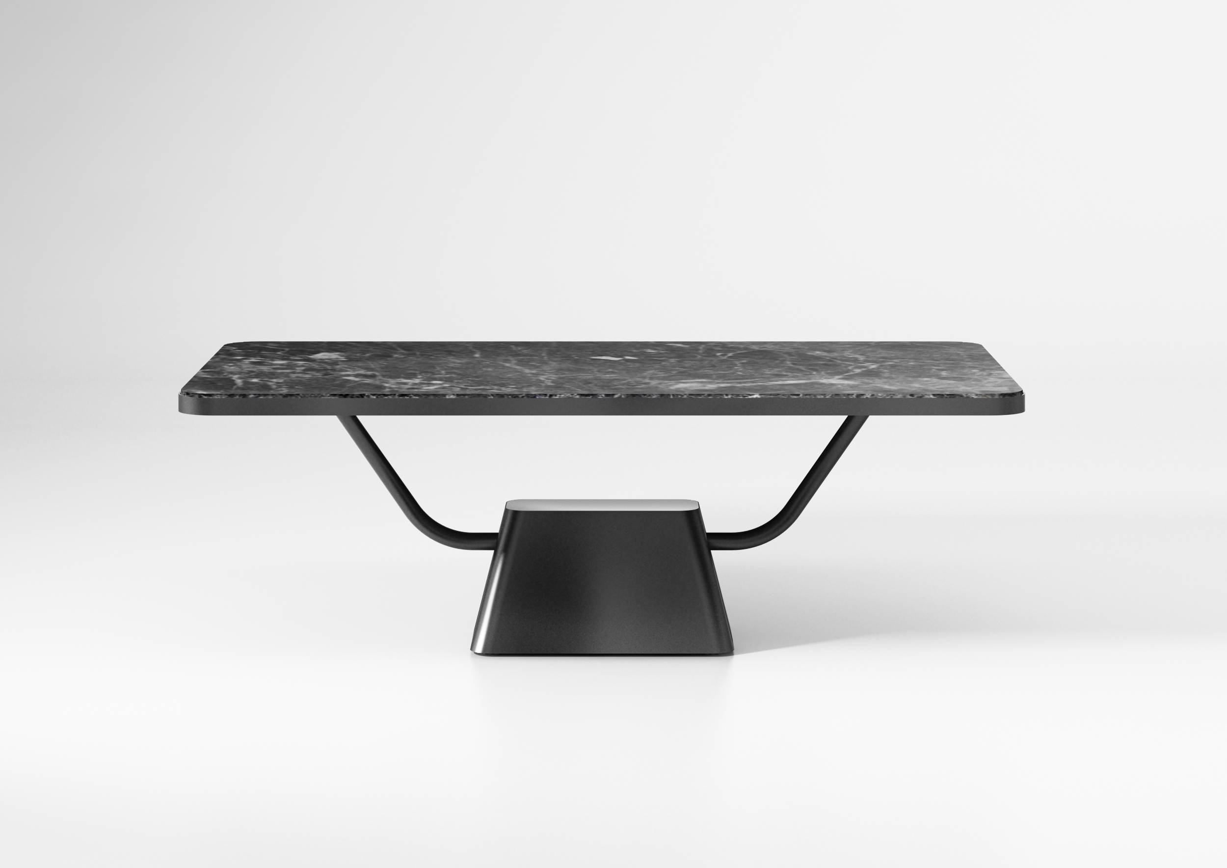 On the occasion of Maison&Objet and Paris Déco Off 2019, designer Paul Loebach designed a black marble top dining table.
