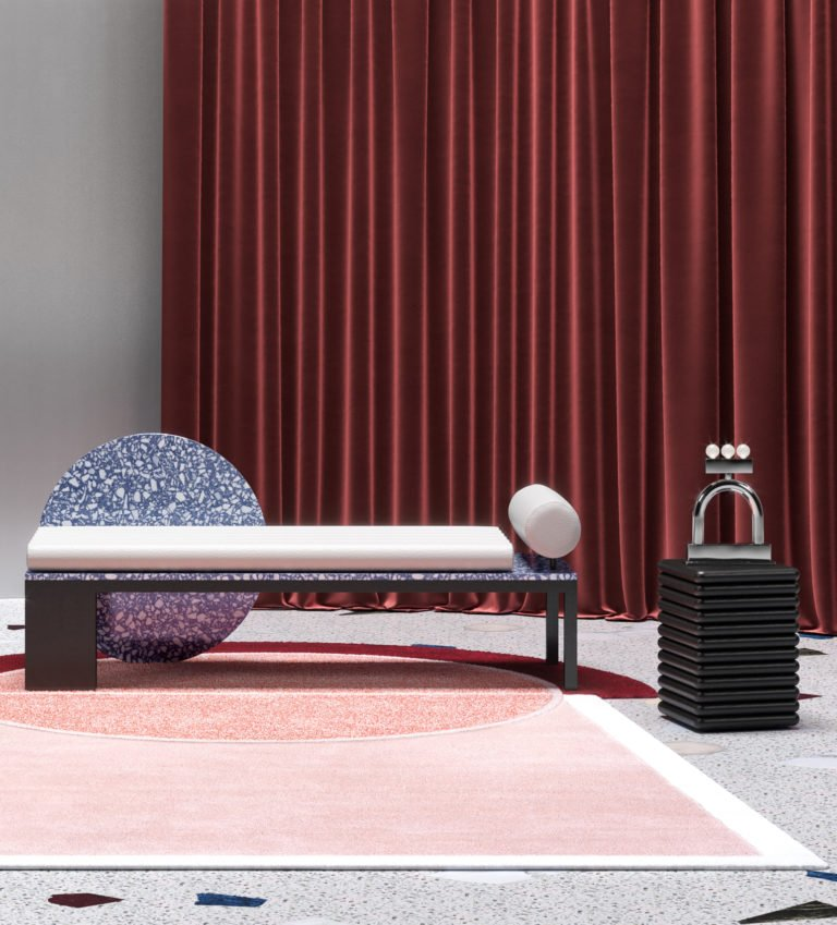 Contemporary daybed and Collectible Design furniture and home decor