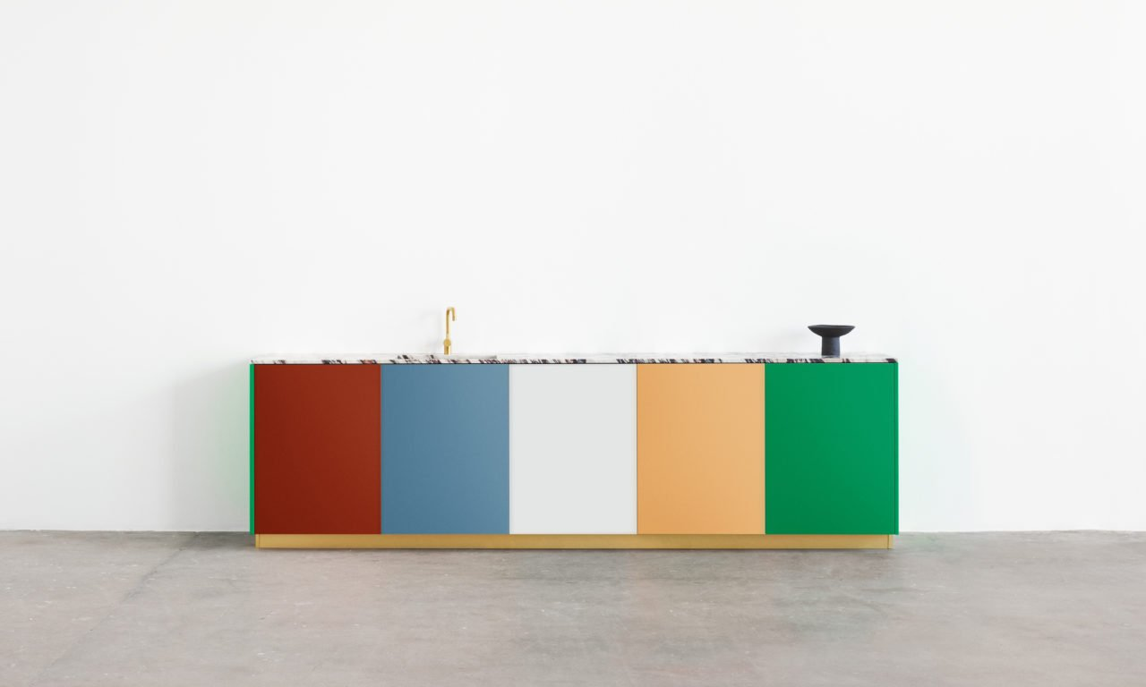 Colorful kitchen cabinets by Müller van Severen for Reform.