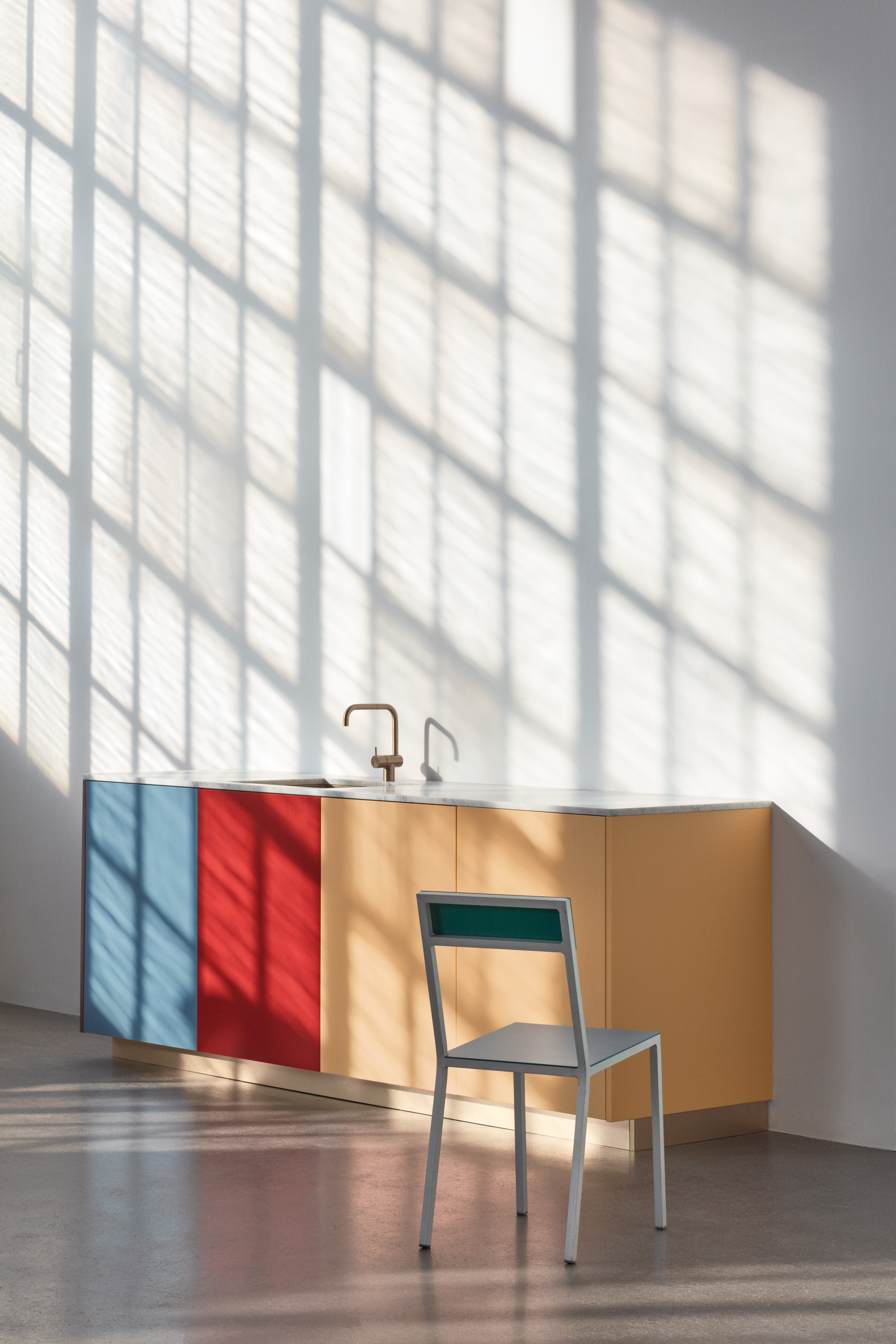 Reform colorful kitchen cabinets by Müller van Severen for Reform.
