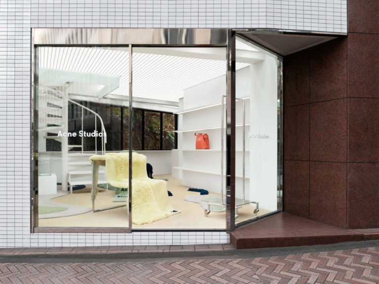Acne Studios contemporary design store in Shibuya.