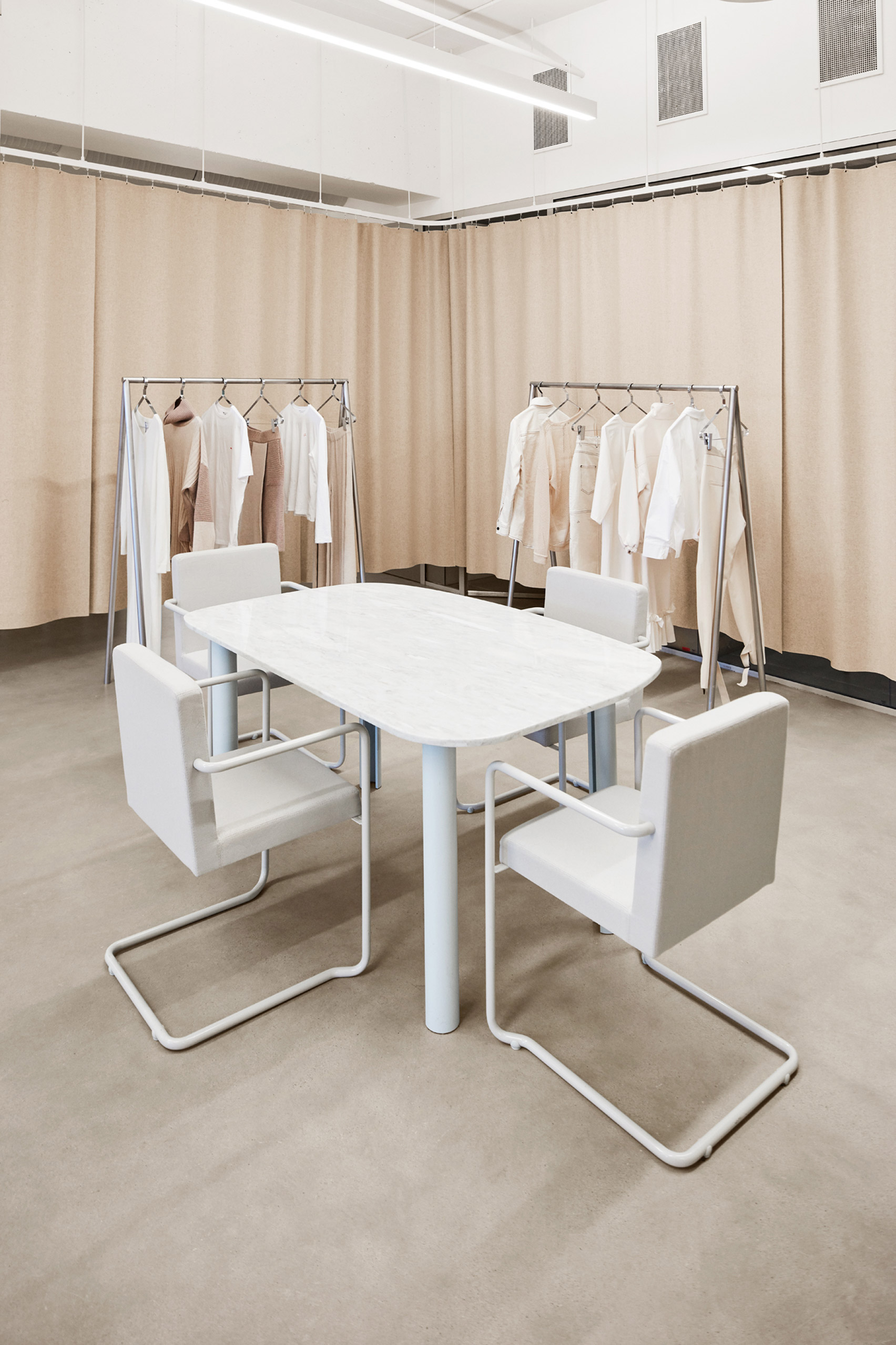 Contemporary fashion showroom in Oslo, Norway.